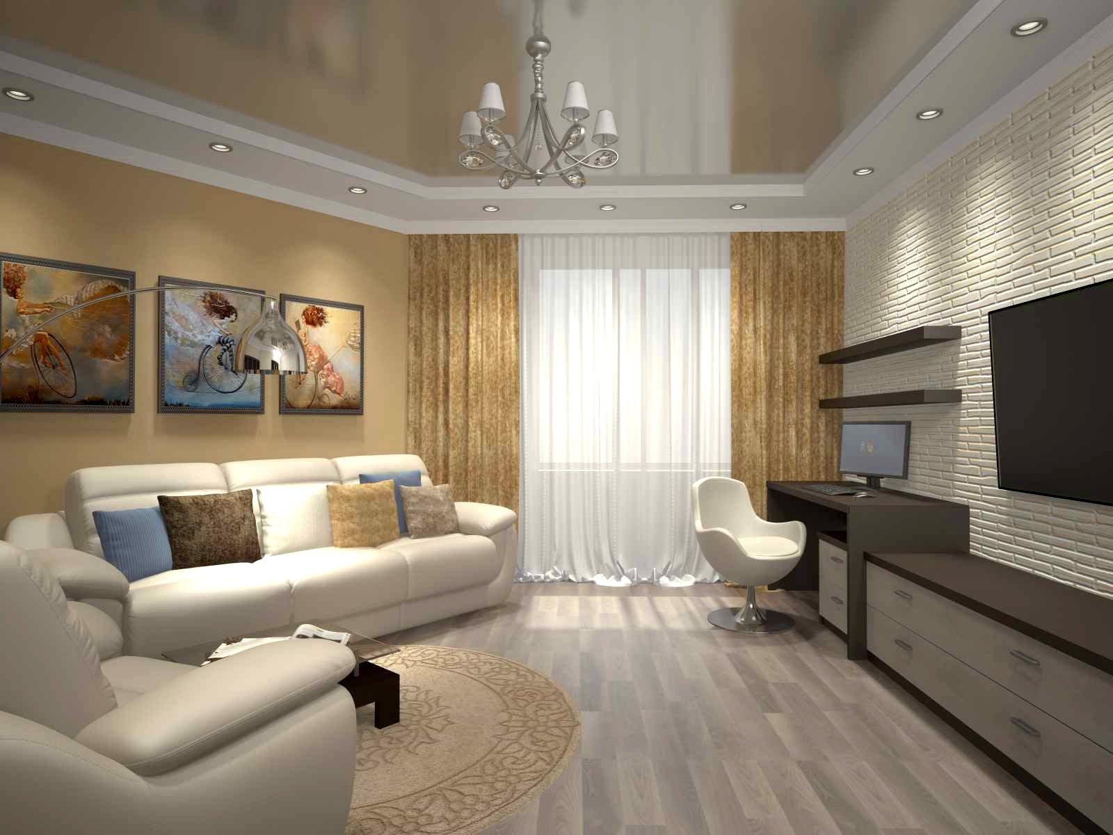 Дизайн интерьера 1комнатной квартиры 37 кв метров