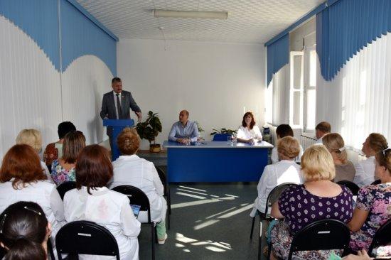 Встреча с коллективом больницы