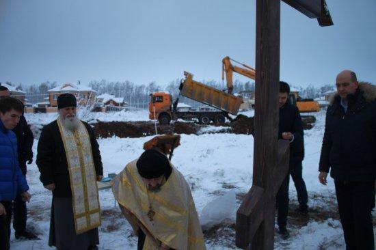 Чин основания храма Иверской иконы Божией Матери в д.Чандрово