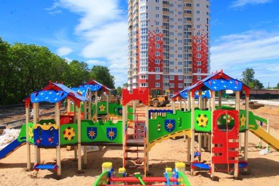 """Детская площадка в """"Олимпе"""" уже возводится!"""