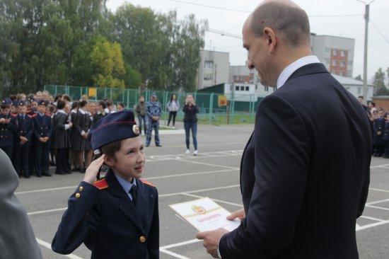 В Кадетской школе им. генерал-майора милиции В.А. Архипова наградили отличников